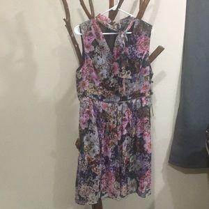 Adrianna Papell fall flower dress, NWT sz14